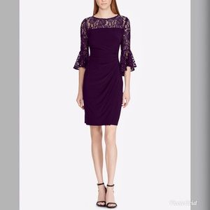 Ralph Lauren Women's Lace Trim Sheath Dress RL88